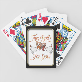 Funny Goat Butts for You Playing Cards