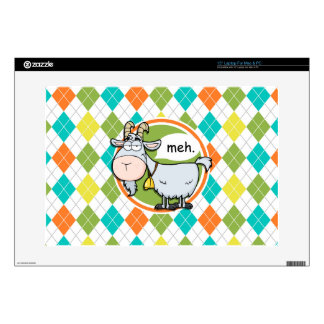 Funny Goat; Colorful Argyle Pattern Decals For Laptops