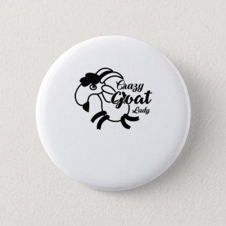 Funny Goat  - Crazy Goat Lady Pinback Button
