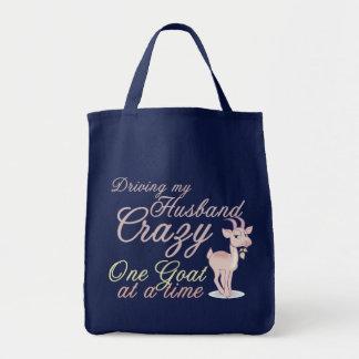 Funny Goat  Design Tote Bag