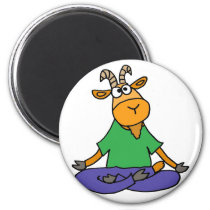 Funny Goat Doing Lotus Position Yoga Magnet