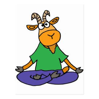 Funny Goat Doing Lotus Position Yoga Postcard