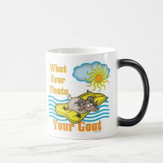 Funny Goat Floats Your Goat 11 Oz Magic Heat Color-Changing Coffee Mug