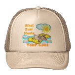 Funny Goat Floats Your Goat Trucker Hat