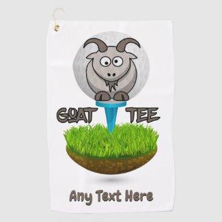 Funny Goat Golf Tee Golf Towel