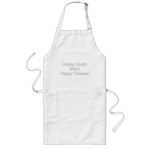 Funny Goat Happy Cheese Long Apron
