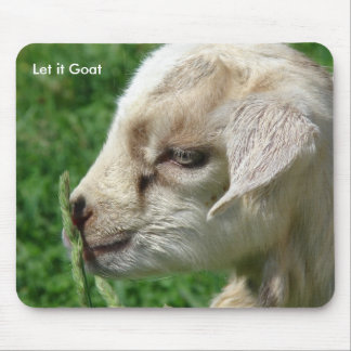 Funny Goat Parody, Cute Goat Kid Mouse Pad