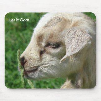 Funny Goat Parody, Cute Goat Kid Mousepads