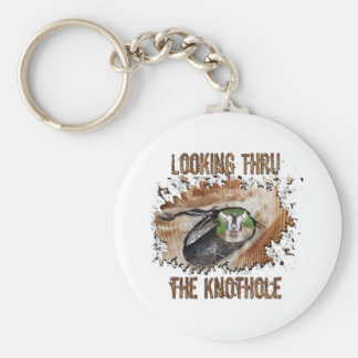 Funny Goat Picture Smiling Goat Keychain