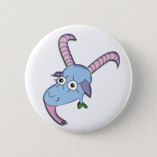 Funny Goat Pinback Button