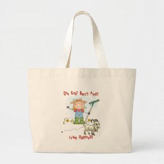 Funny Goat Poop Cartoon Jumbo Tote Bag