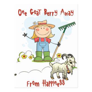 Funny Goat Poop Cartoon Postcard