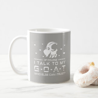 Funny Goat Quote-Cute Lamb Silhouette Around Loves Coffee Mug