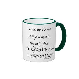 Funny Goat Saying Goats Get Everything Ringer Mug