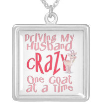 Funny Goat Silver Necklace