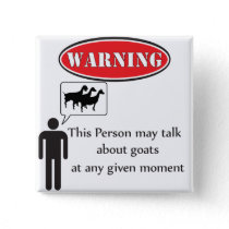 Funny Goat Warning Button