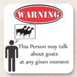 Funny Goat Warning Coaster