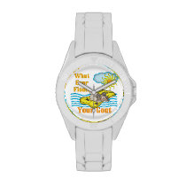 Funny Goat What Ever Floats Your Goat Wrist Watch