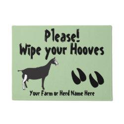 Funny Goat Wipe your Hooves Toggenburg Goat Doormat