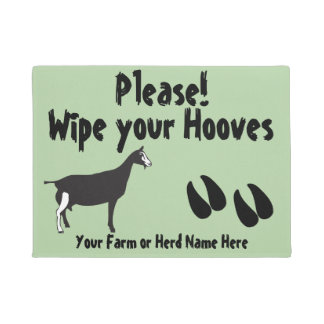 Funny Goat Wipe your Hooves Toggenburg Goat Doormat