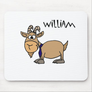Funny Goat with Tie Named William Mouse Pad