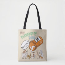 FUNNY GOATS | CUSTOMIZE My Happy Pills GetYerGoat Tote Bag