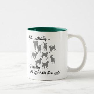 FUNNY GOATS | DO NEED all These Goats GetYerGoat™ Two-Tone Coffee Mug