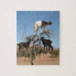"""Funny goats in a tree jigsaw puzzle<br><div class=""""desc"""">Goats in an Argan tree,  Morocco</div>"""