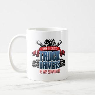 Funny God Created Truck Drivers Coffee Mug