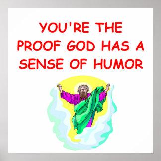 funny god poster