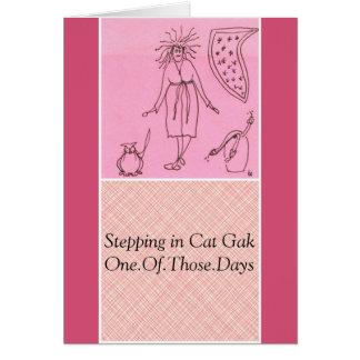Funny Goddess Cat Gak Card