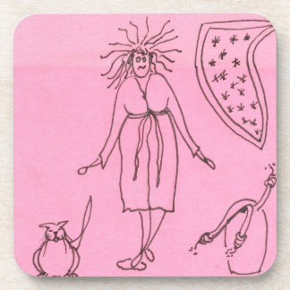 Funny Goddess Cat Gak Beverage Coaster