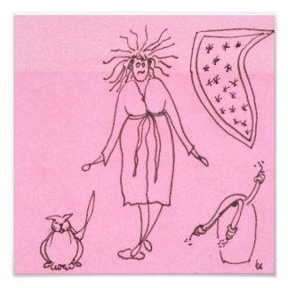 Funny Goddess Cat Gak Photo Print