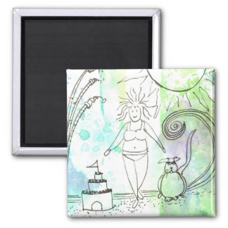 Funny Goddess Embrace Your Curves 2 Inch Square Magnet