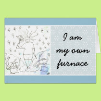 Funny Goddess Hot Flashes Card