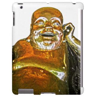 Funny Golden Laughing Buddha iPad Case