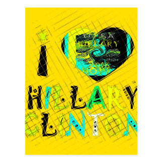 Funny Golden lovey Amazing Hope Hillary for USA Co Postcard