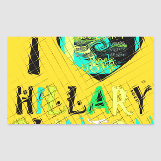 Funny Golden lovey Amazing Hope Hillary for USA Co Rectangular Sticker
