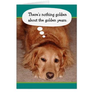 Funny Golden Oldie Golden Retriever Birthday Card