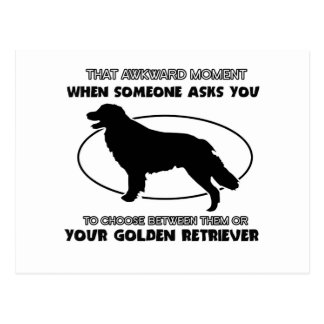 Funny GOLDEN RETRIEVER designs Postcard