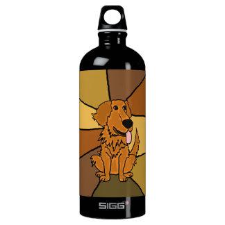 Funny Golden Retriever Dog Art SIGG Traveler 1.0L Water Bottle