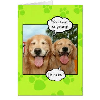 Funny Golden Retriever Golden Oldie Birthday Card