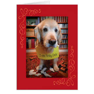 Funny Golden Retriever Guilty Pleasures Birthday Card