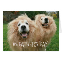 Funny Golden Retriever Lion Dogs Father's Day Card