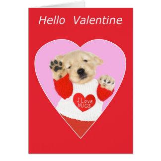 Funny Golden Retriever Puppy Valentine's Day Card