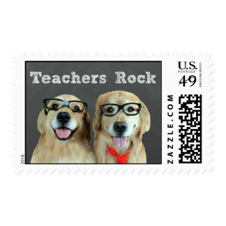 Funny Golden Retriever Teacher Appreciation Postage