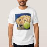 Funny Golden Retriever with Tennis Ball Tee Shirt
