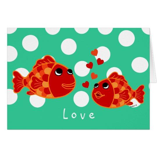 Funny Goldfish Love Cartoon Card