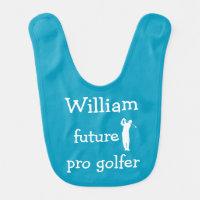 Funny Golf Baby Boy Bibs