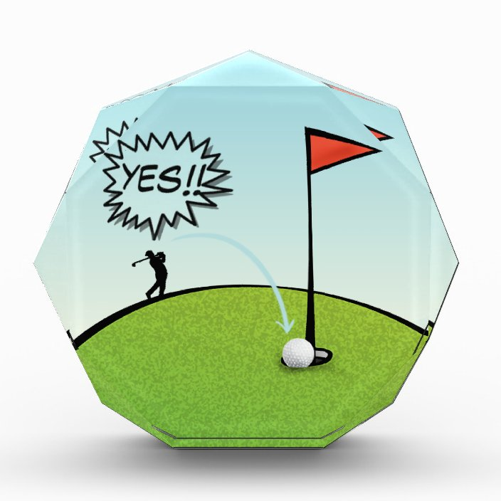 Funny Golf Ball Hole In One Golfer Gift Zazzle Com